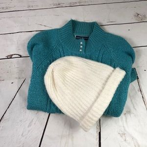 Sweater with button detail